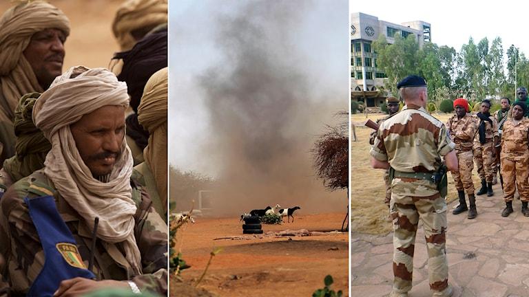 Mali, svenska styrkor, explosion