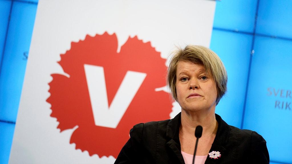 Ulla Andersson, Vänsterpartiets ekonomisk-politiska talesperson.