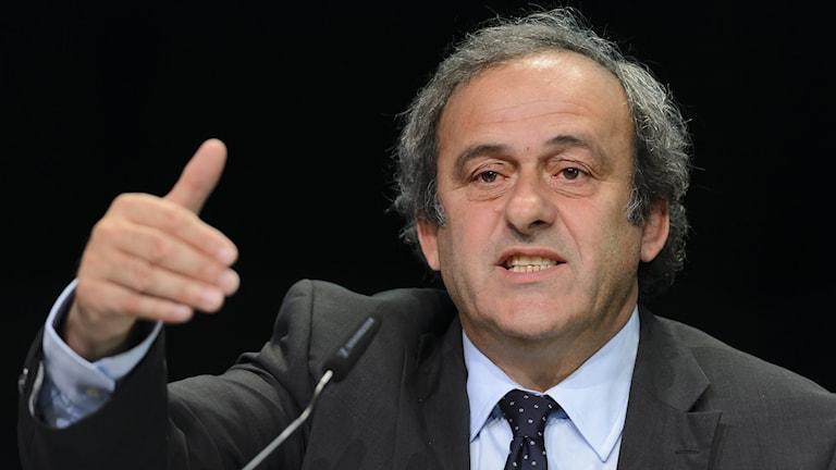 Uefas ordförande Michel Platini. Foto: Fabrice Coffrini/TT.