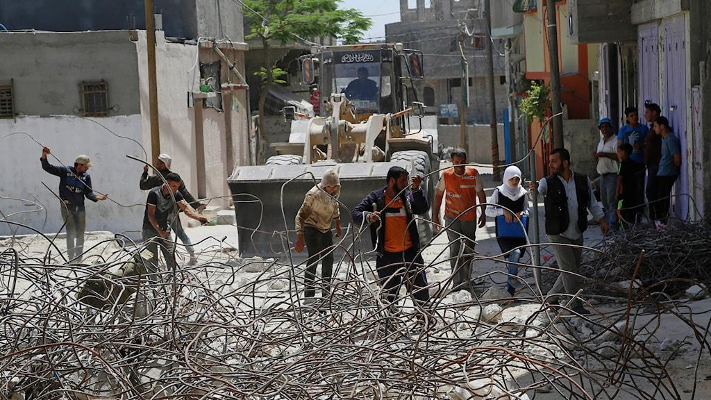 Återuppbyggnaden av Gaza drar ut på tiden.