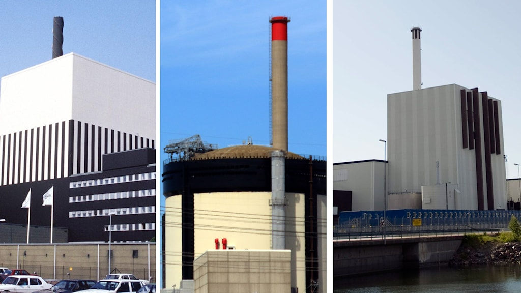Sveriges alla kärnkraftverk i bruk