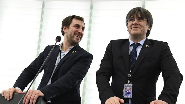 Antoni Comín och Carles Puigdemont