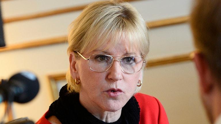 Utrikesminister Margot Wallström. Foto: Claudio Bresciani/TT.