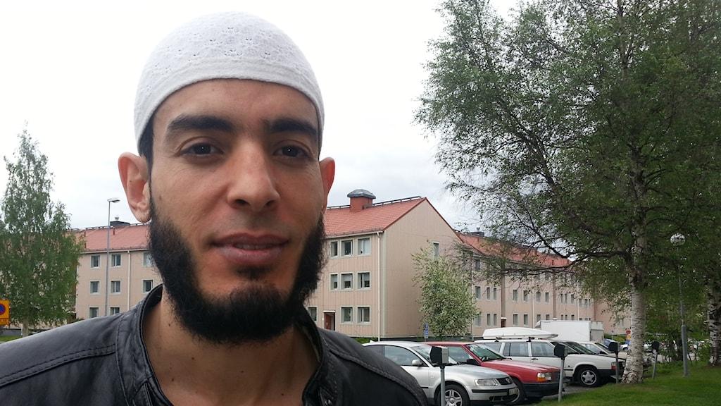 Imam Muhamed Amri i Luleå Foto:Nils Eklund/Sveriges radio