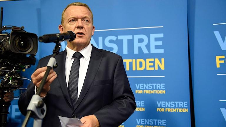 Danmarks statsminister Lars Løkke Rasmussen. Foto: Joachim Ladefogde / Polfoto via AP / TT.