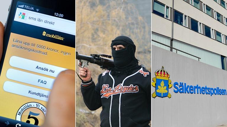 Lån och bedrägerier finansierar terrorresor. Foto: Jonas Ekströmer/TT, STR/AP, Henrik Montgomery/TT
