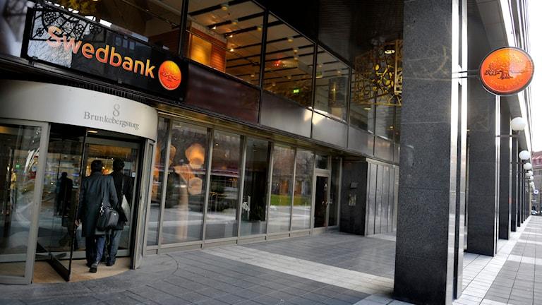 Swedbank har lagt ner 188 bankkontor på 10 år. Foto: Jessica Gow/TT