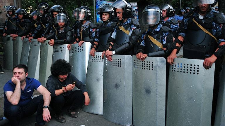 Armenien, protester om elpriset