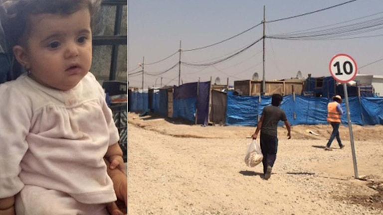 Naouros föddes i flyktinglägret Harsham. Foto: Nivette Dawod/Sverigesradio