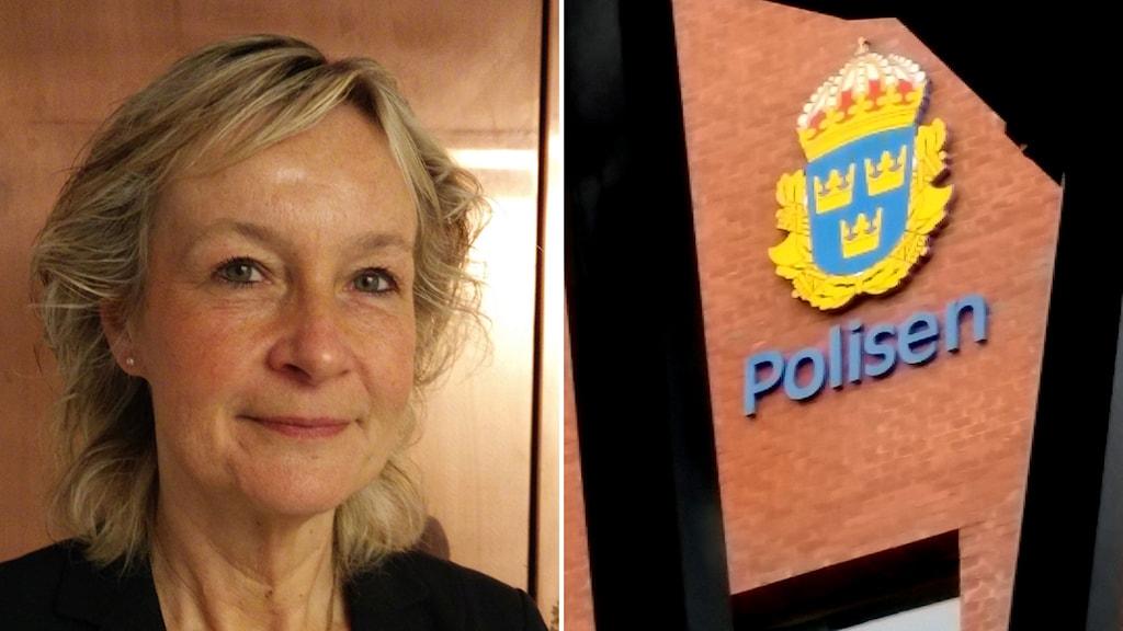 Polishus och Eva Lindeblad. Foto: Christoffer Wiklöw/Sveriges Radio/TT.