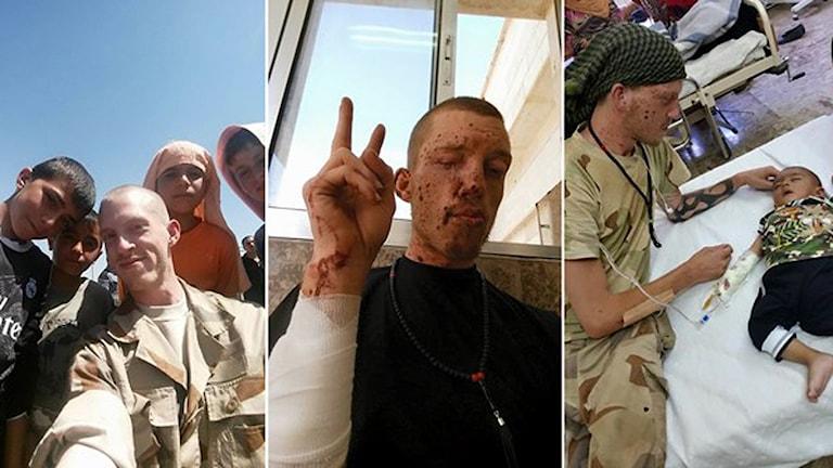 Jesper Söder strider med kurdiska YPG mot IS i norra Syrien. Foto: Privat.
