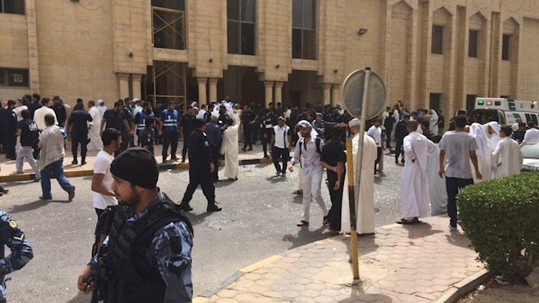 Den shiamuslimsk moské i Kuwait city som attackerades. Foto: AP/TT