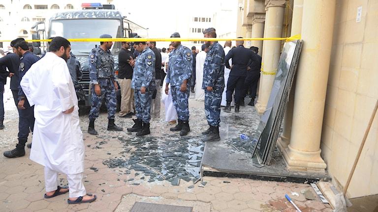 Glasskärvor, militär i Kuwait Foto: TT