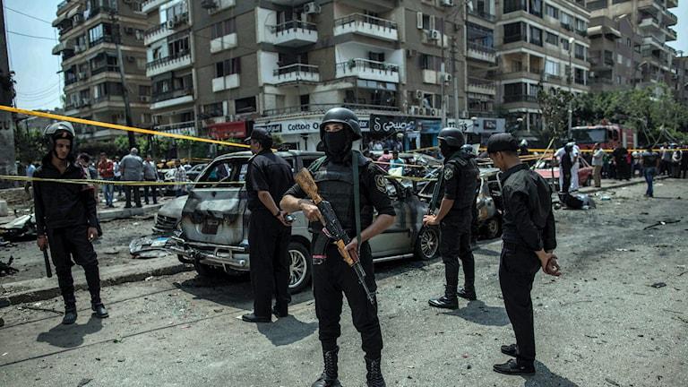 Bilbombsdåd i Egypten. Foto: Eman Helal/TT