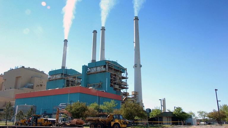 Ett kolkraftverk. Foto: Matthew Brown/TT