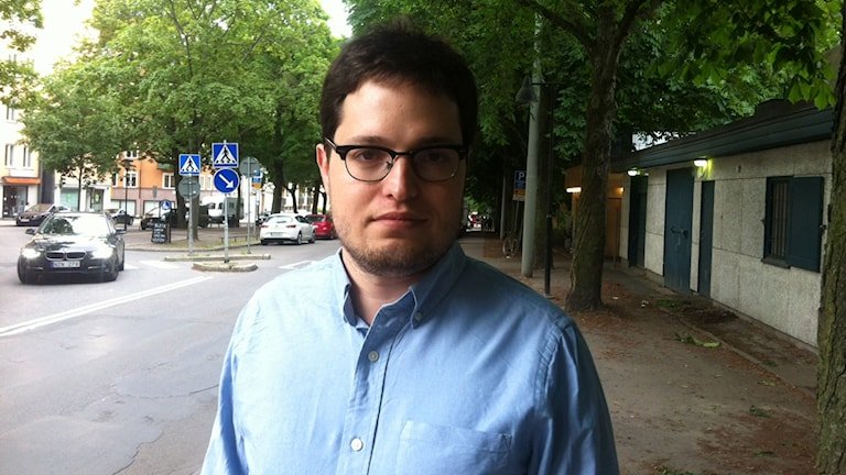 Daniel Munevar är rådgivare åt Greklands finansminister. Foto: Mikael Sjödell/SR.