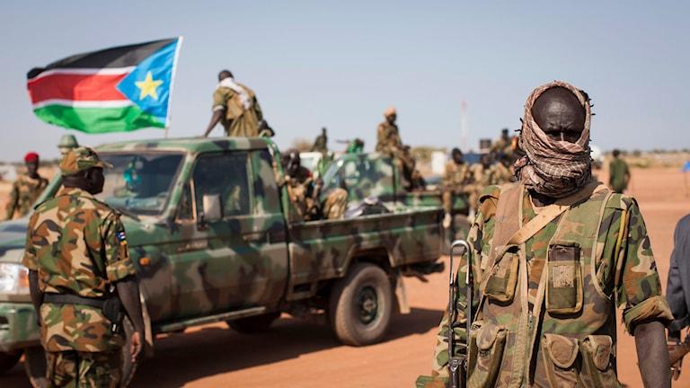 Sydsudansk militär. Foto: Mackenzie Knowles-Coursin/TT