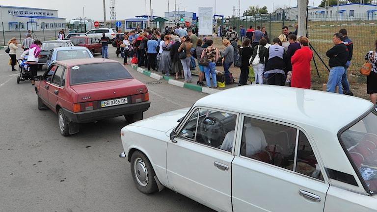Rysk-Ukrainsk gränskontroll. Foto: TT