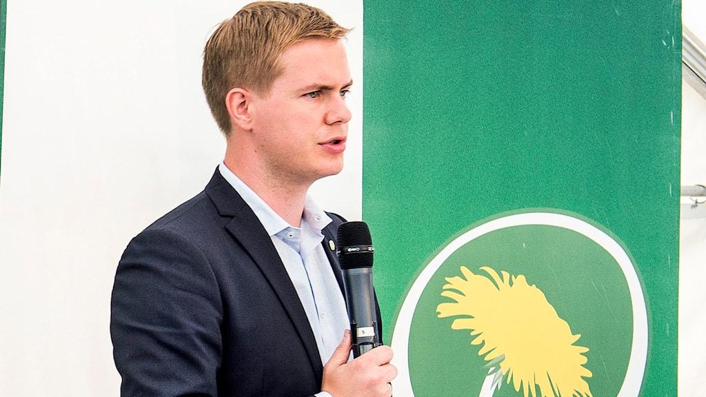 Gustav Fridolin, Miljöpartiet. Foto: Marcus Ericsson /TT