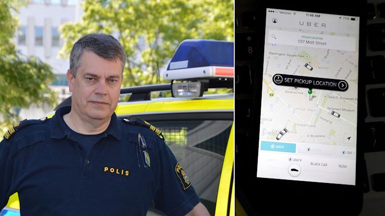 Göran Bolinder, vid trafikpolisen i Stockholm. Foto: Maria Repitsch/TT