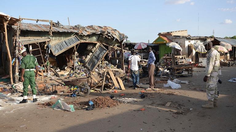 Den 22 juni skedde en  självmordsbomb i en marknad i Nigeria.