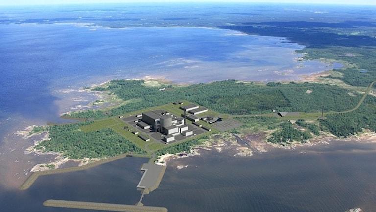 Fennovoimas planerade kärnkraftverk i Pyhäjoki. Foto: Fennovoima.
