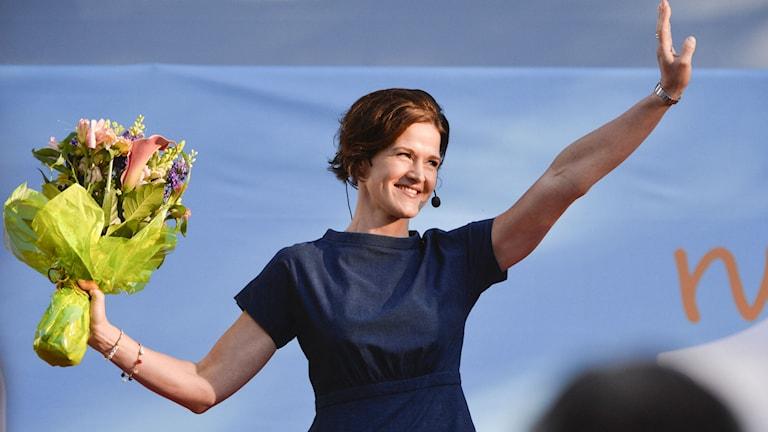 Anna Kinberg Batra efter sitt tal i Almedalen. Foto: Henrik Montgomery/TT