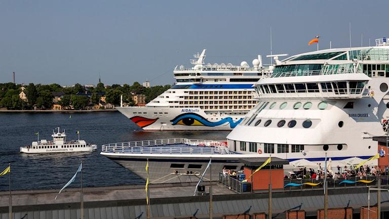 Kryssningsfartyg. Foto: Christine Olsson/TT