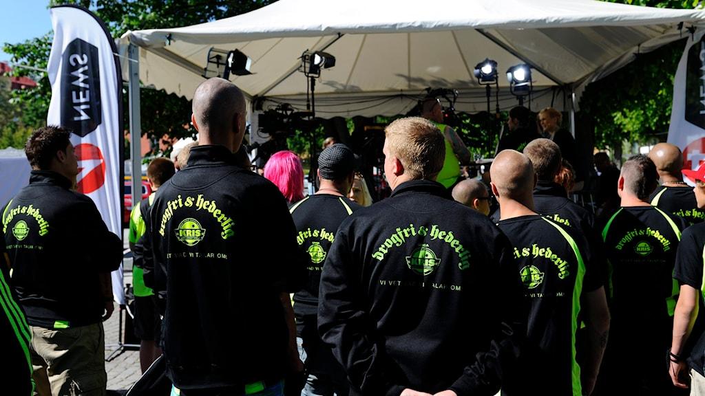 VISBY 20120703 Organisationen Kriminellas Revansch i Samhället (KRIS) under Almedalsveckan i Visby. Foto: Henrik Montgomery / TT