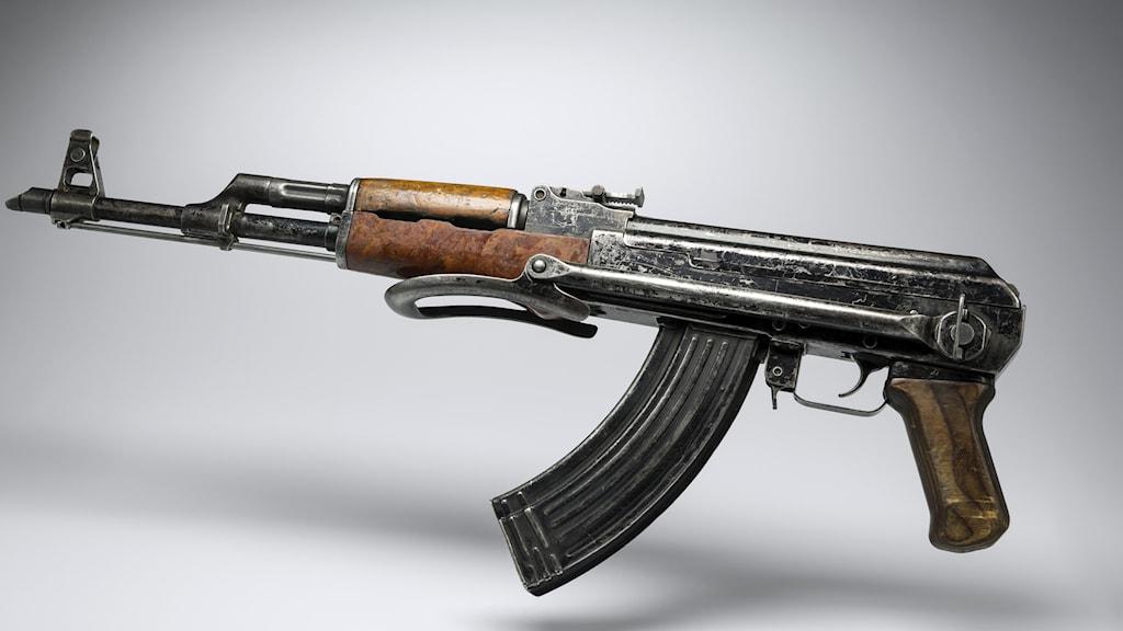 AK-47 Kalasjinikov. Foto: Lionel Bonaventure/TT.