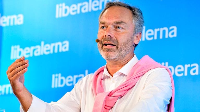 Jan Björklund FP talar i Almedalen. Foto: Foto: Henrik Montgomery / TT