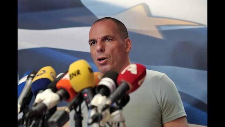 Greklands finansminister Yanis Varoufakis. Foto: Angelos Christofilopoulos/TT