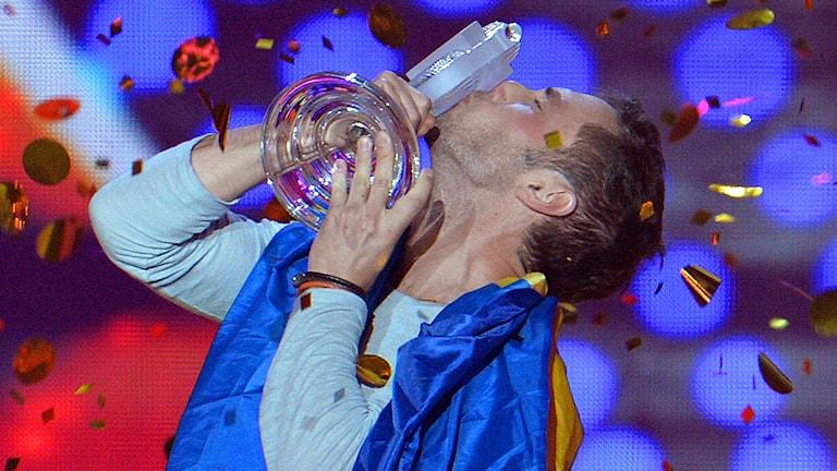 Eurovision 2015, Måns Zelmerlöw Foto: Kerstin Joensson/TT