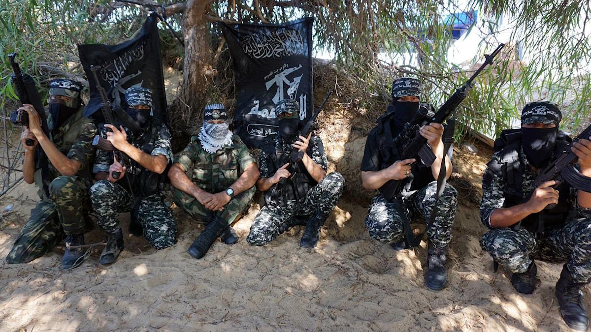 Nasir Salah al-Din-brigaden, också den terrorstämplad av USA, tänker inte låta Islamiska staten tränga in i Gaza Foto: Tomas Härenstam