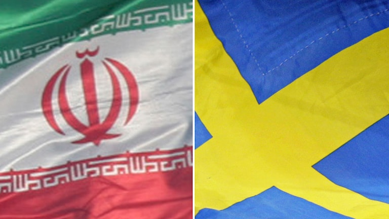 sveriges och irans flagga