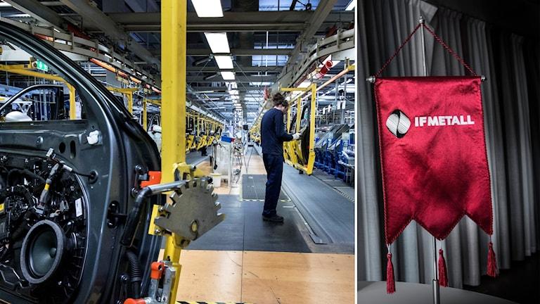 Volvo fabrik och IF Metall