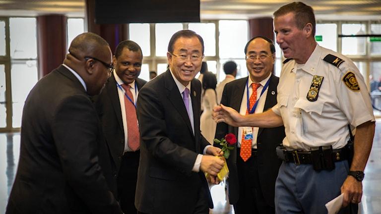Ban Ki-moon i addis abeba Foto: Mulugeta Ayene/TT