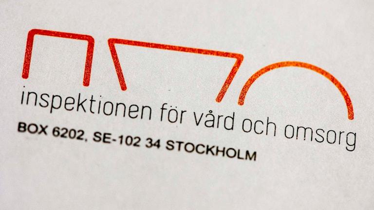 Inspektionen för vård och omsorg. Foto: Vilhelm Stokstad / TT
