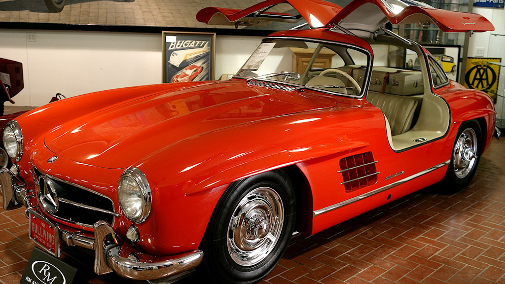 Ett exemplar av 1955-års Mercedes-Benz 300SL. Detta exemplar var dock inte det som hittades i garaget. Foto: Dr. Scott M. Lieberman/TT