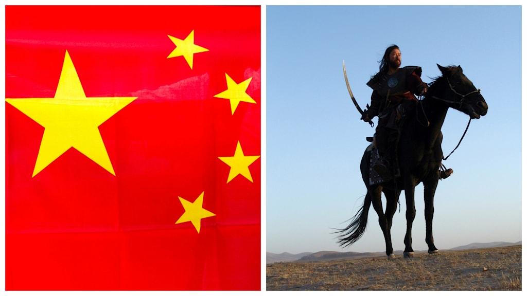 Turister greps i Kina förra helgen för att ha tittat på en film om Djingis Khan. Foto: TT.