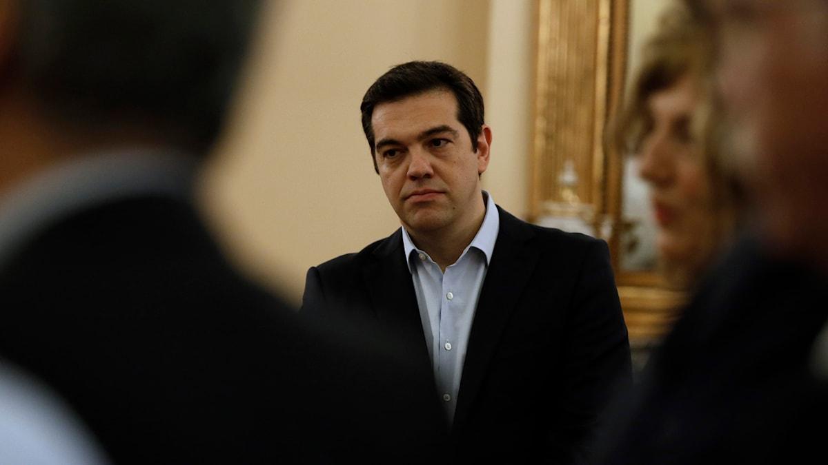 Alexis Tsipras, Grekland, 2015. Foto: Thanassis Stavrakis / TT