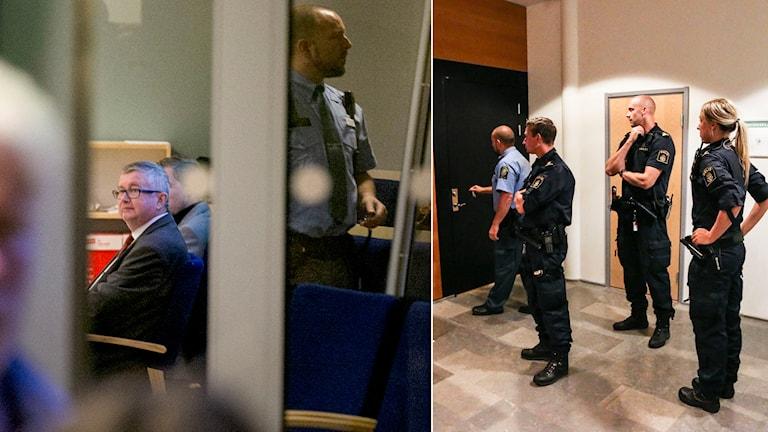 Åklagaren Ronnie Jacobsson i samband med häktningsförhandlingar mot de tre män som misstänks för terrorbrott i Göteborg. Foto:  Björn Larsson Rosvall / TT