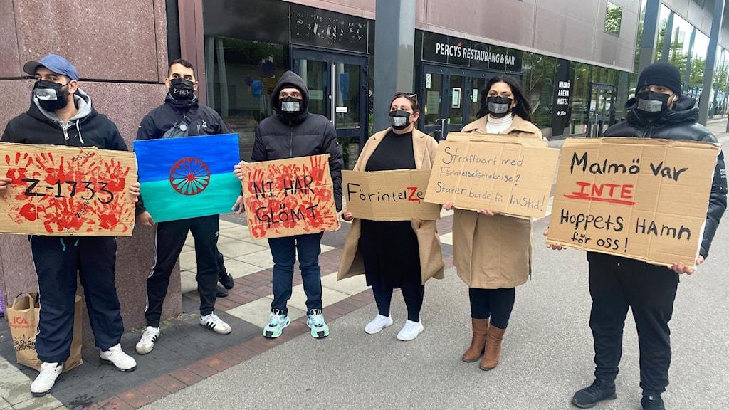 Romsk manifestation i Malmö