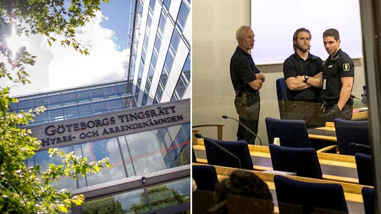 Männen häktades i Göteborgs tingsrätt, men nu river hovrätten upp beslutet i det ena fallet. Foto: Björn Larsson Rosvall/TT