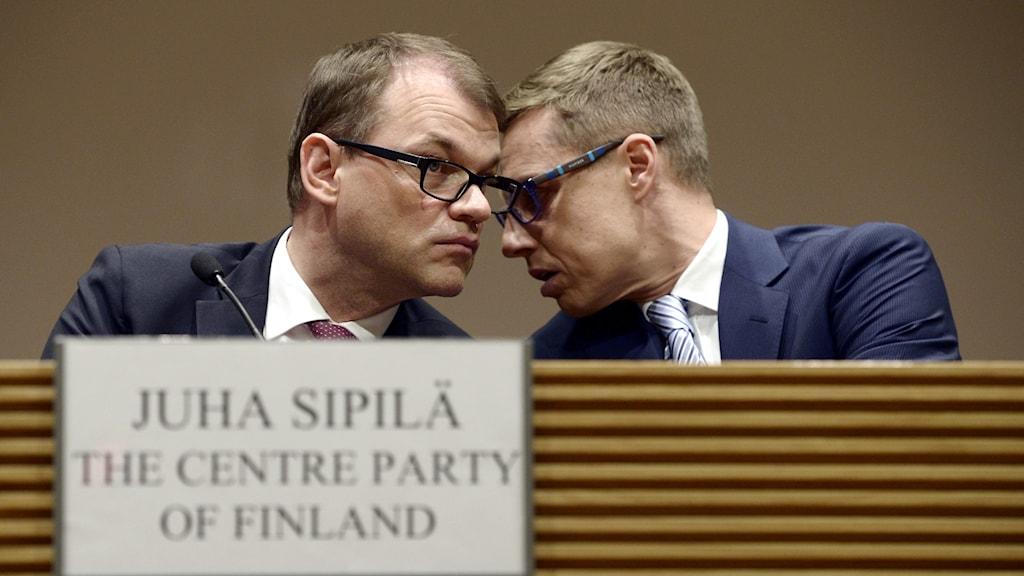 Juha Siplä och Alexander Stubb. Foto: Heikki Saukkomaa/TT
