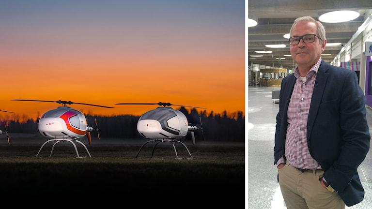 Mikael Hult vd på Cybaero om att sälja drönare till Kina Foto: Pressbild /Stephanie Zakrisson Sveriges Radio