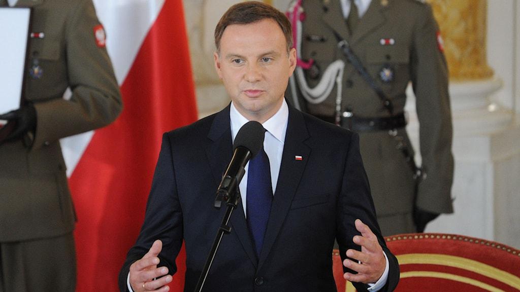 President Duda Foto: Alik Keplicz/TT