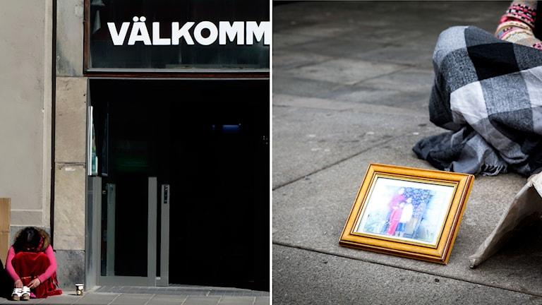 Attacker mot tiggare leder inte till åtal. Foto: Hasse Holmberg/TT, Erlend Aas/NTB Scanpix