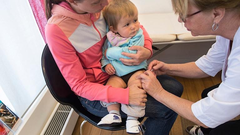 Barn som vaccineras.