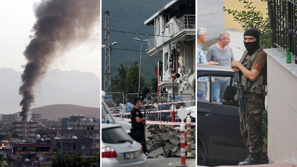 Attacker i Silopi, Sultanbeyli och vakt utanför amerikanska konsultatet i Istanbul.